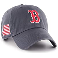'47 Brand Boston Red Sox Clean Up Hat Cap Vintage Navy/USA American Flag Patch