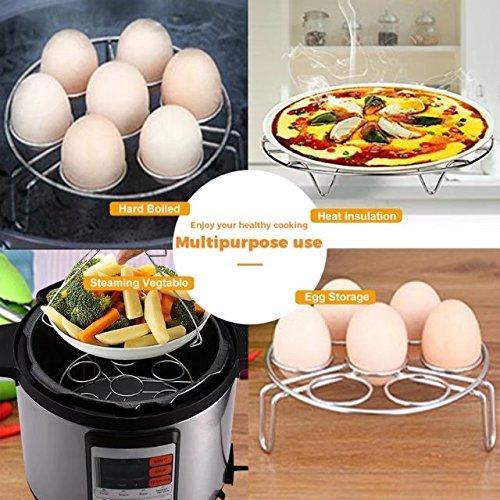 Egg Steamer Rack,2 Pack Stainless Steel Steaming Rack Stand Trivet for Pressure Cooker Pot Accessories