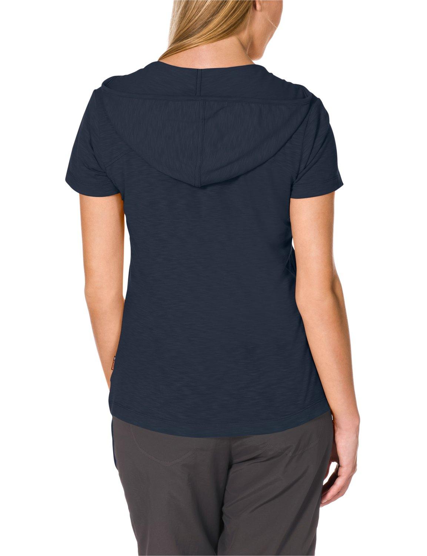 c9db2014721 Jack Wolfskin Damen Shirt Travel Hoody T 2 W: Amazon.de: Sport & Freizeit