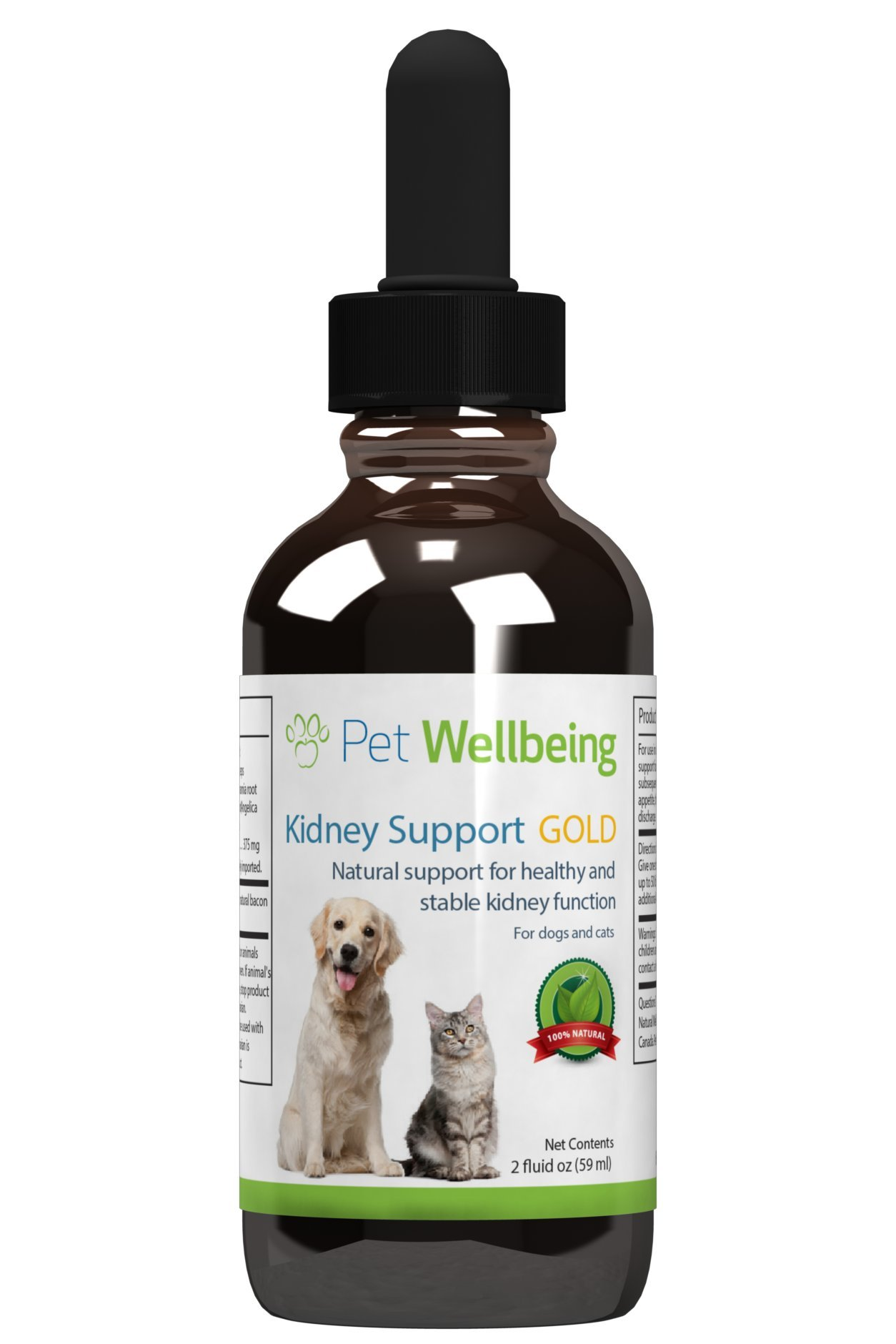 Pet Wellbeing – Kidney Support Gold for Dogs – Natural Support for Canine Kidney Health (2 Ounce)