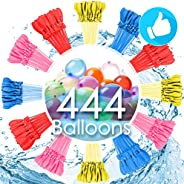 Water Balloons for Kids Girls Boys Balloons Set Party Games Quick Fill 444 Balloons 12 Bunches for Swimming Po