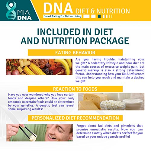 MiaDNA Test Kit for & Nutrition ! personal genetic testing to uncover profile and body to for you with genetic analysis!