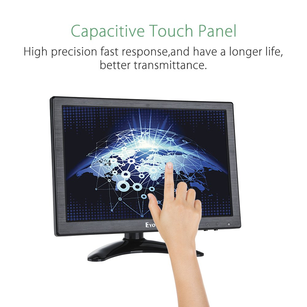Eyoyo 10 inch IPS Monitor 1920x1200 Resolution Touch Screen Panel Built-in Dual Loudspeakers Support BNC VGA AV HDMI USB Video Input Display For PC Laptop DVR TV Security Camera by Eyoyo (Image #2)