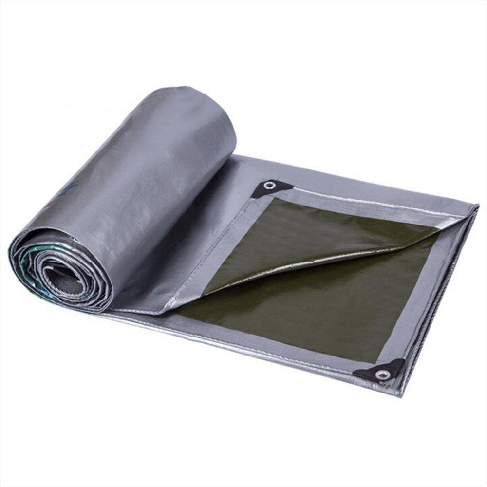 テントの防水シート 日常使用のためのレギュラーデューティタープ - ダブルラミネート構造、強化ヘム、高密度ポリエチレン製織190g/m²-0.4mm それは広く使用されています (サイズ さいず : 8x12m) B07D6MZH9H 8x12m  8x12m