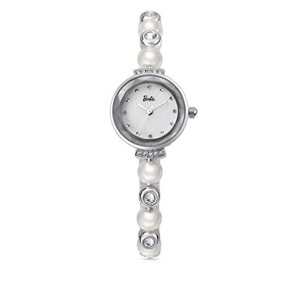 Barbie B50551L.01A 2018 Reloj Plateado Moderno Brillante de Pulsera para Mujer