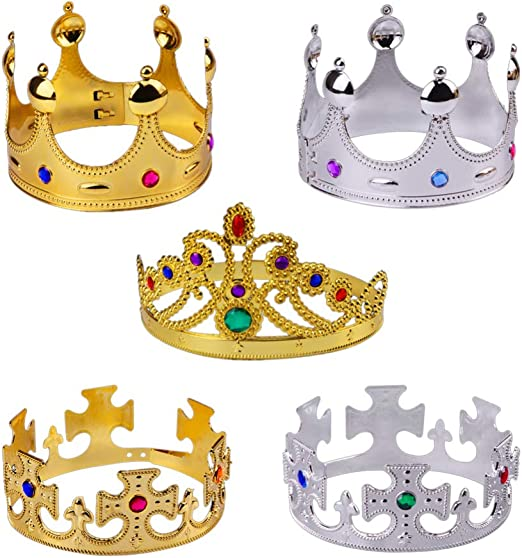 UPKOCH 2 St/ücke K/önig Krone Kristall Krone Tiara Prinzessin Haarschmuck Kuchendeko f/ür Damen M/änner Kopfschmuck M/ädchen Kinder Geburtstag Halloween Party Kost/üm Zubeh/ör
