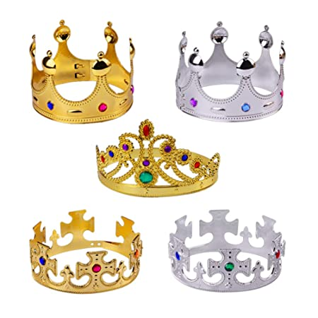 UPKOCH 5 piezas Royal King Coronas Queen Princesa Tiara ...