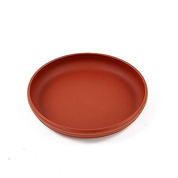 8 – Maceta Bandeja Redonda de plástico maceta platillo, Gris
