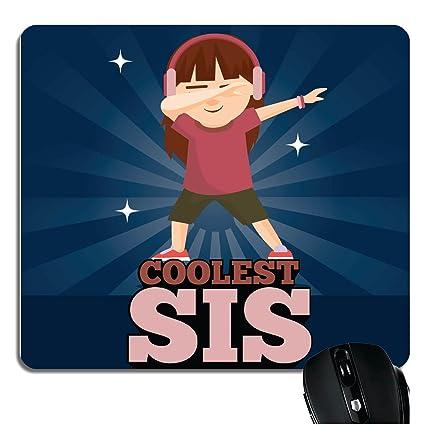 YaYa CafeTM Bhaidooj Birthday Gift For Sister Mousepad Coolest Sis Printed