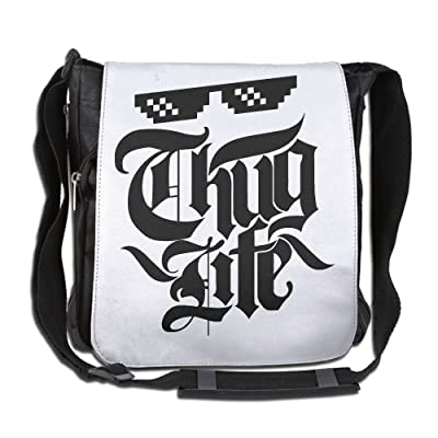 Thug Life Fashion Print Diagonal Single Shoulder Bag