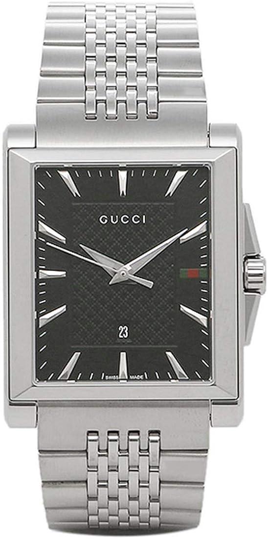 [グッチ]時計 GUCCI Gタイムレス G-TIMELESS レクタングル メンズ腕時計 ウォッチ 選べるカラー シルバー/ブラック YA138401 [並行輸入品]