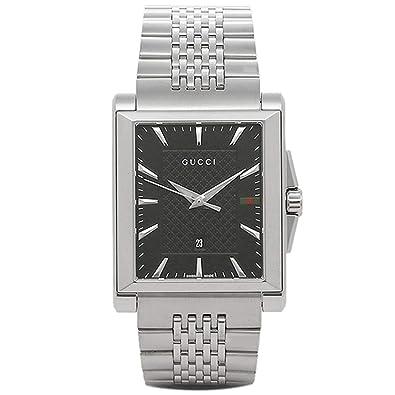 f83b181b1215 Amazon.co.jp: [グッチ]時計 GUCCI Gタイムレス G-TIMELESS レクタングル メンズ腕時計 ウォッチ 選べるカラー  シルバー/ブラック YA138401 [並行輸入品]: 腕時計