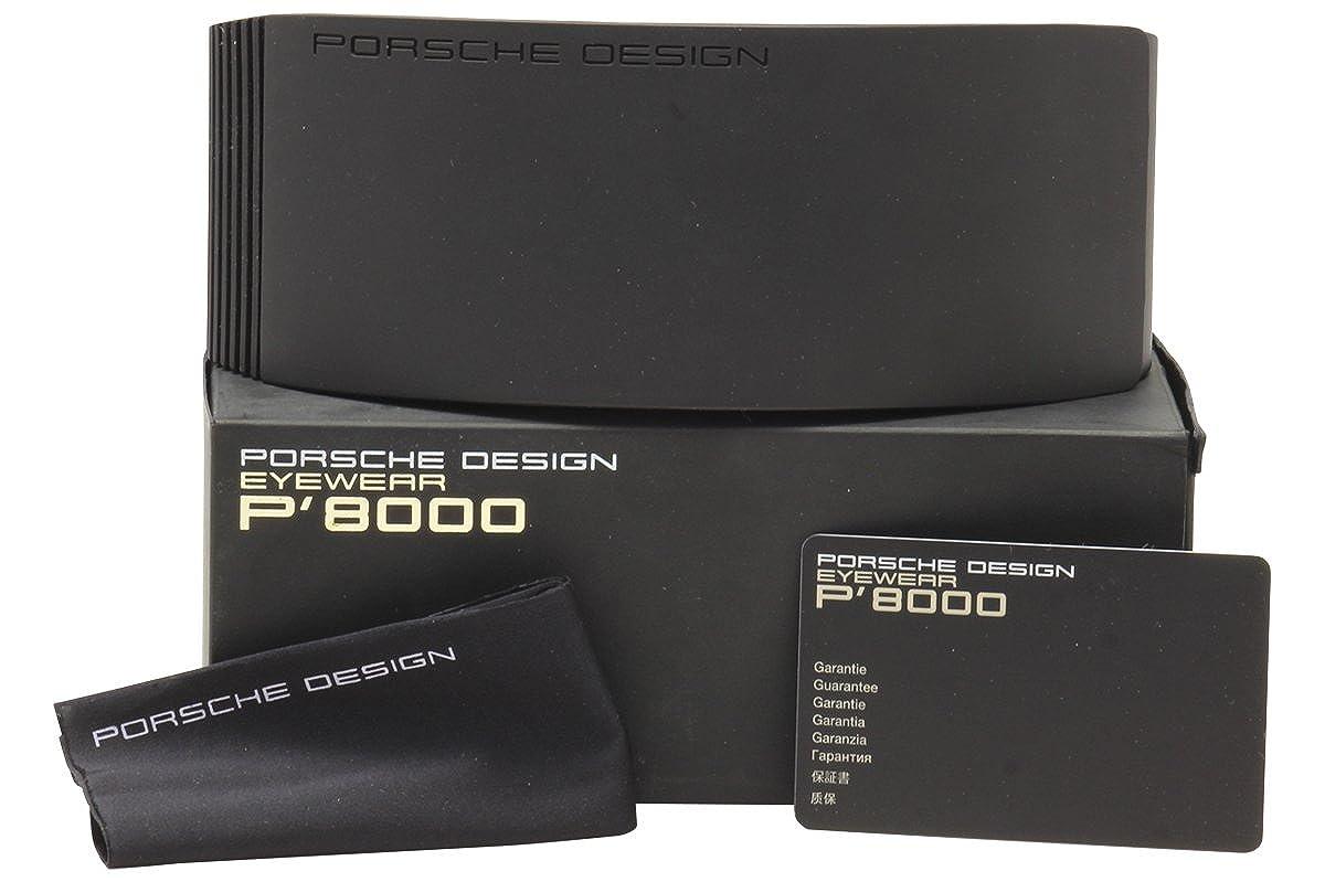 8a74e7e28a Amazon.com  Porsche Design eyeglasses P8206 A Titanium Gold - Grey  Porsche  Design  Clothing