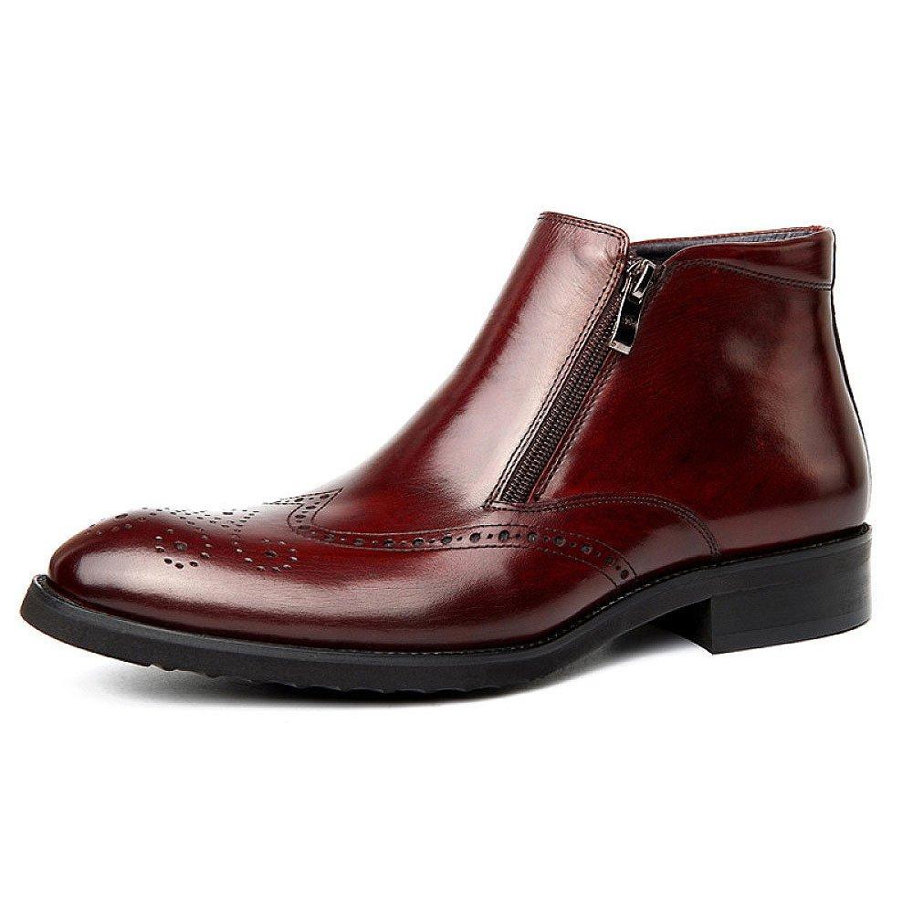 DHFUD Herren Mode Casual Martin Stiefel Briten Outdoor Geschlossene Zehe Lederschuhe