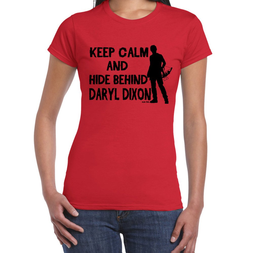Keep Calm Daryl-Walking Dead tshirt-Womens Funny Sayings Slogans T Shirts Starlite