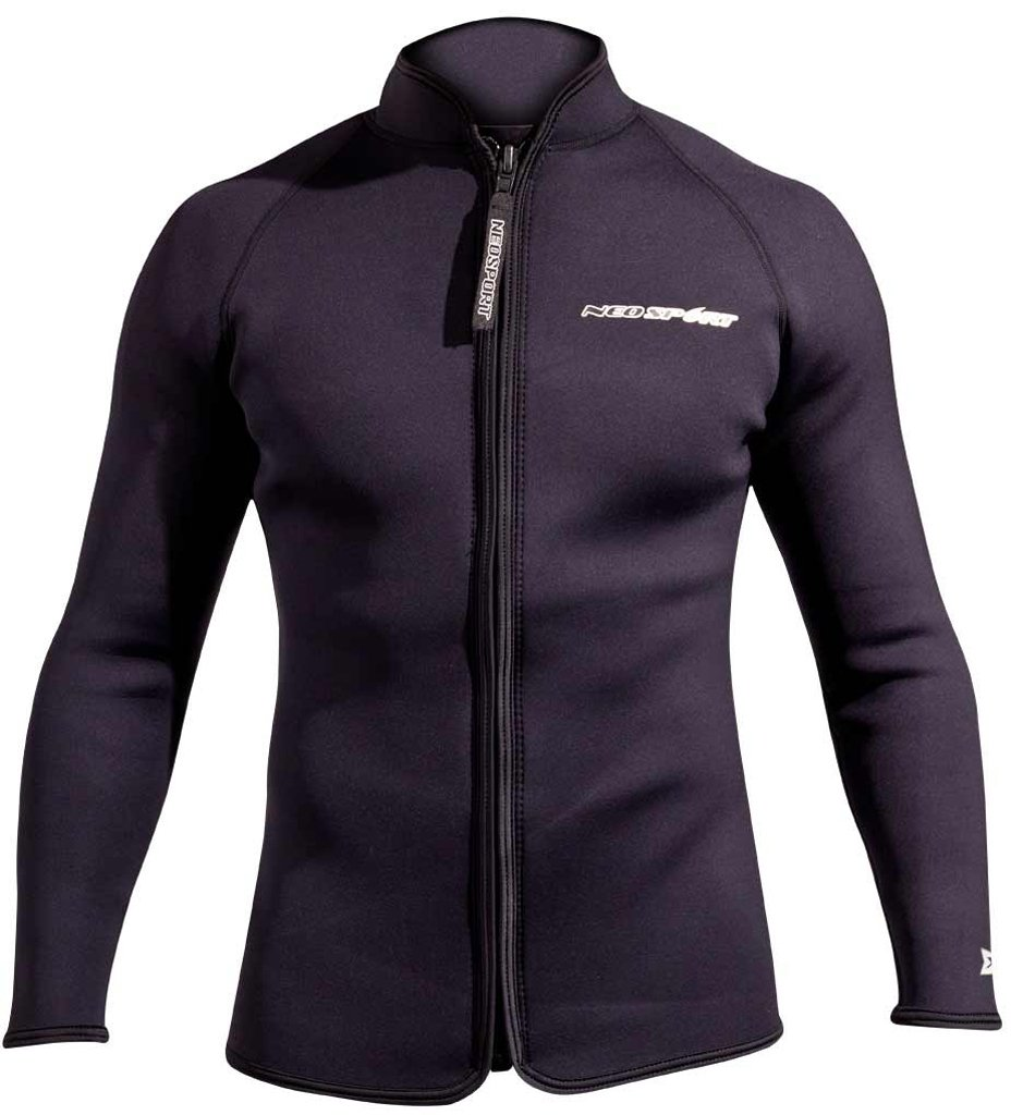 Neosport XSPAN 3mm Long Sleeve Paddle Jacket Black 4XL