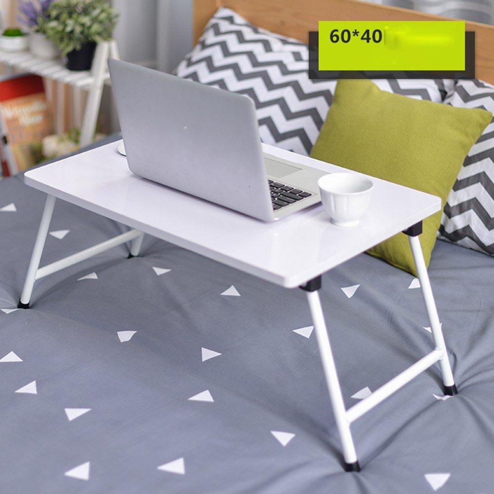 ZZHF 折りたたみ式テーブルラップトップテーブル折り畳み式学習テーブル付きベッド8色オプション60 * 40センチメートル デスク ( 色 : D ) B078V277ZQD