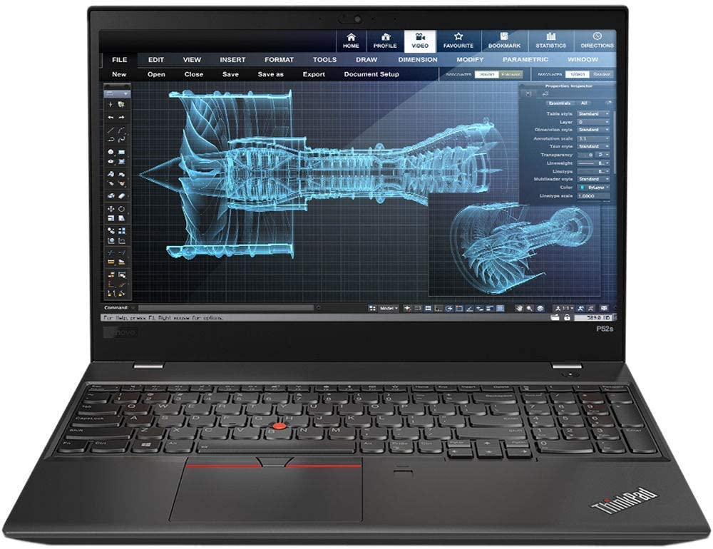 Lenovo ThinkPad P52s, Intel 8th Gen i7-8550U 4-core, 16GB RAM, 512GB SSD