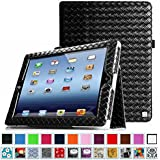 Fintie iPad 2/3/4 Case - Slim Fit Folio Case with Smart Cover Auto Sleep / Wake Feature for Apple iPad 2, the new iPad 3 & iPad 4th Generation with Retina Display, Knot Black Black