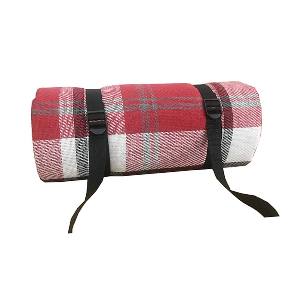 Picnic Blanket Large Waterproof Sandproof Beach Blanket, Washable, Light Weight, Ground/Grass Mat, Folding Outdoor Camping Mat, Red Plaid (Size : 200x200cm)