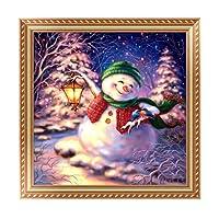 DIY Diamond Painting, Prevently pupazzo di Natale Decor 5D dipinti ricamo a punto croce con strass incollato DIY Diamond Painting Home Wall Decor colore (C)