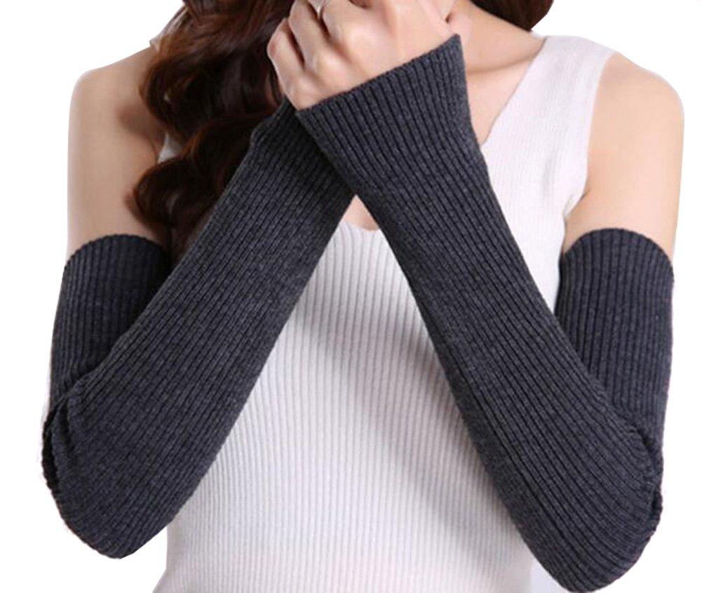 Mode Frauen Strick Handgelenk Arm Wärmer Fingerlose Hand Lange Mitten Arm Handschuhe Winter Warm Lange Arm Ärmel Lange Fingerlose Handschuhe erioctry