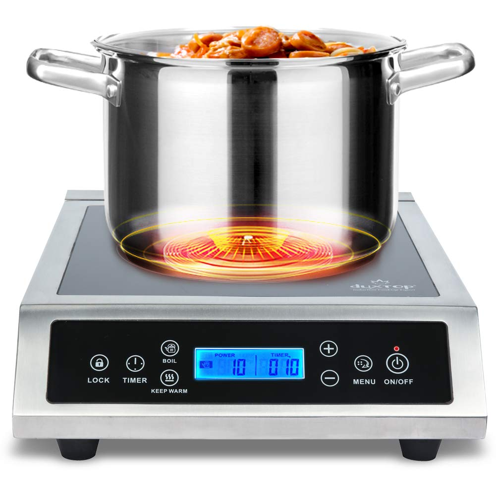 Duxtop LCD P961LS Professional Portable Induction Cooktop Commercial Range Countertop Electric Single Burner,1800 watts