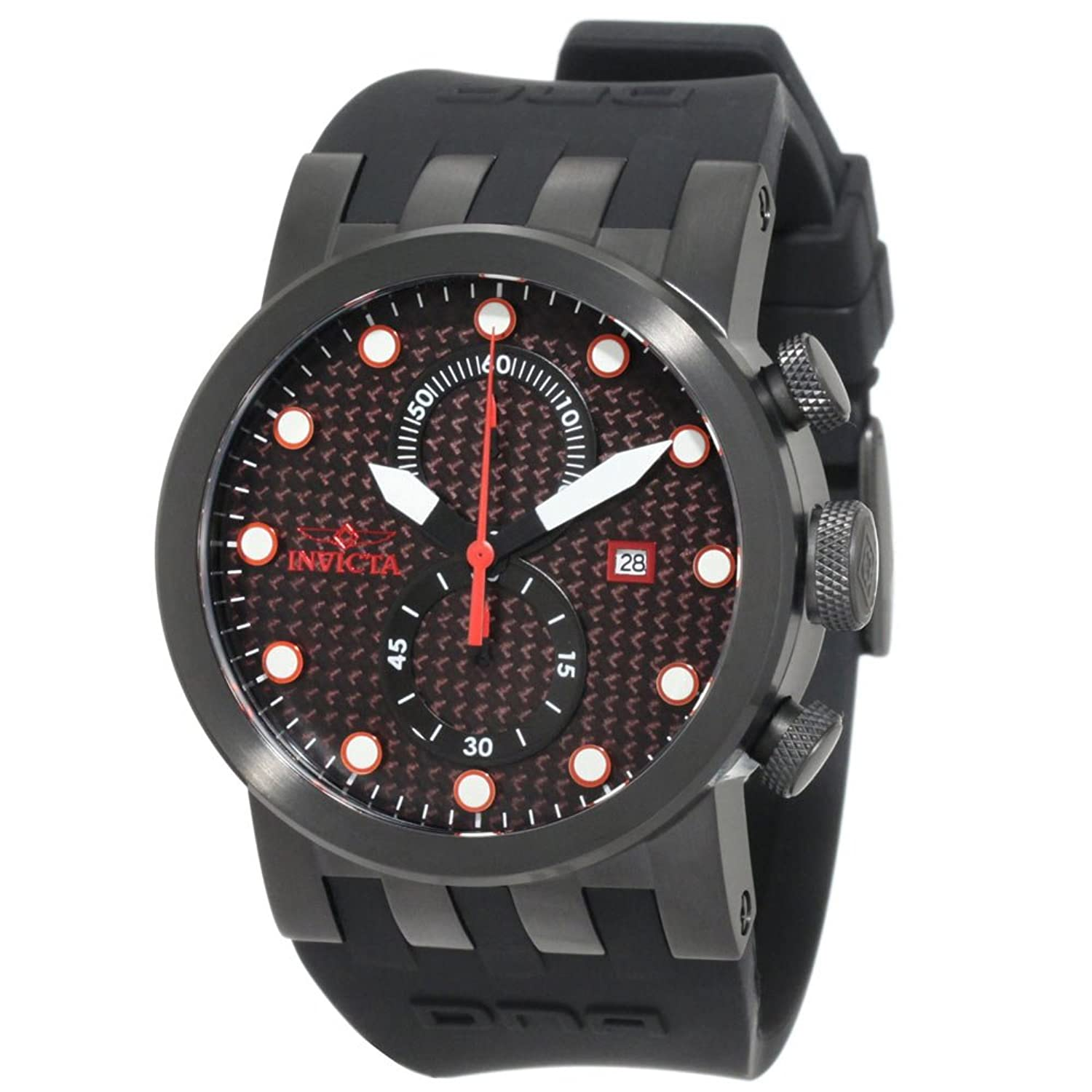 Amazon.com: Invicta Mens 10428 DNA Quartz Chronograph Black Dial Watch: Invicta: Watches