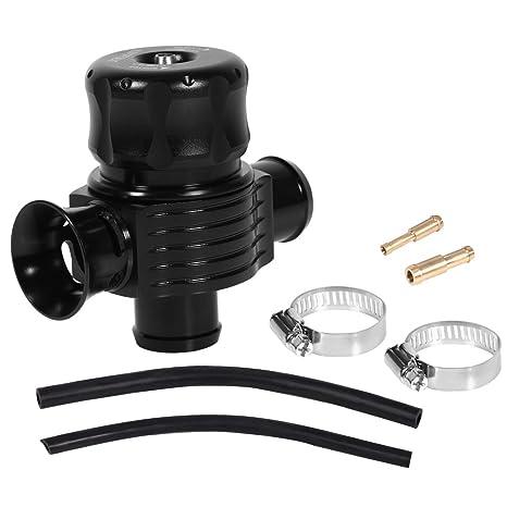 Yosoo 25mm Puertos Duales Turbo Ajustable Válvula del Descargar Fake Dump BOV Simulador de Sonido