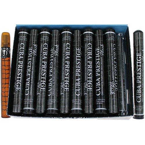 Cuba Prestige Black Cologne by Cuba, 1.17 oz EDT Spray men. Pack of 20