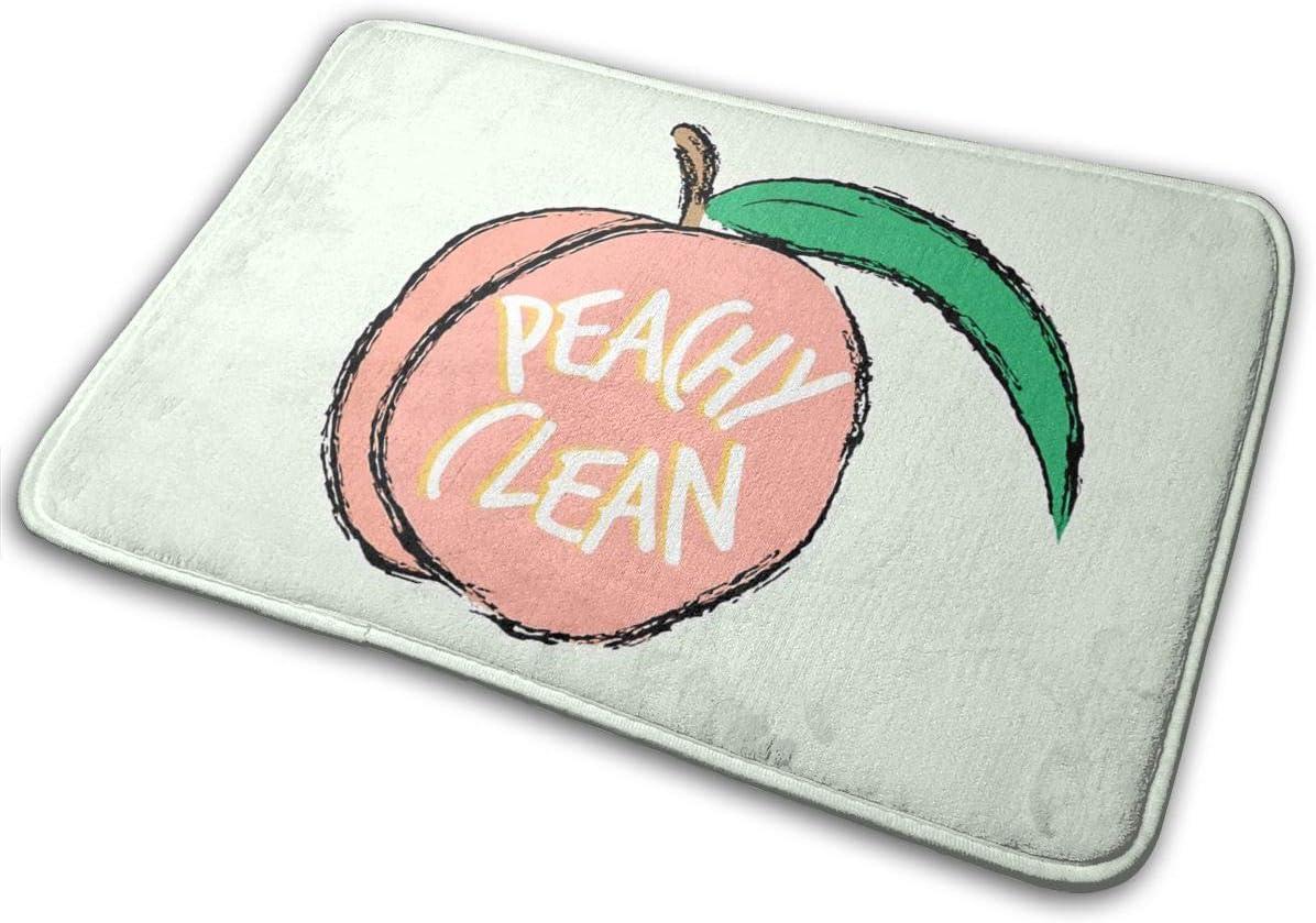 BaboLye Peachy Clean! Welcome Doormat Indoor Outdoor Entrance Rug Floor Mats Shoe Scraper 15.8'X23.6'