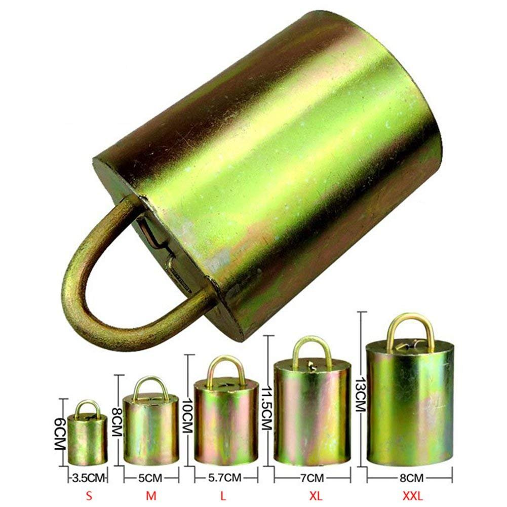 Farm & Ranch Cow Horse Sheep equipment Grazing bells Upgraded version Prevent the loss Galvanized steel material bell (S)