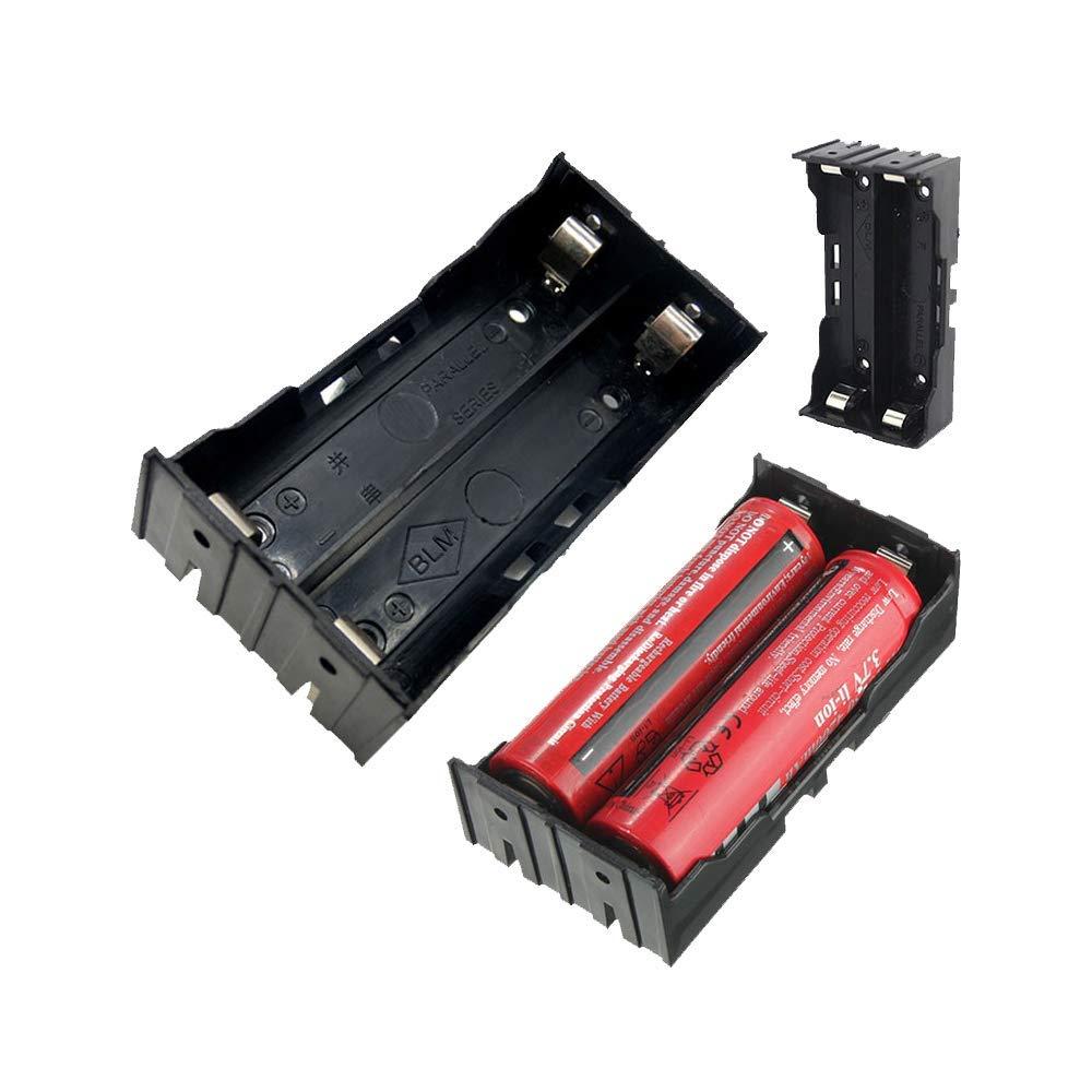 18650 Chargeurs Secteur Piles, Chargeur Accus Batterie Pile Rechargeable, PowerFul-LOT Cas De Support De Boî Te De Rangement De Bricolage Pour 2 X 18650 3.7V Batterie Rechargeable 4 Broches