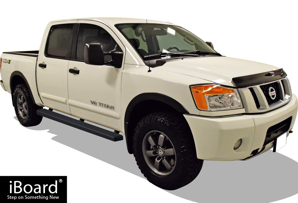 APS iBoard Running Boards 4 Custom Fit 2004-2019 Nissan Titan Crew Cab Pickup 4-Door /& 16-19 Titan XD Nerf Bars | Side Steps | Side Bars