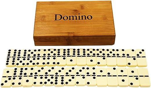 YZEO Dominó de Lujo Doble 6 baldosas de Domino Profesional con ...