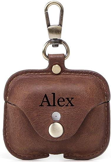 Amazon Com For Airpod Pro Case Leather Personalized Genuine