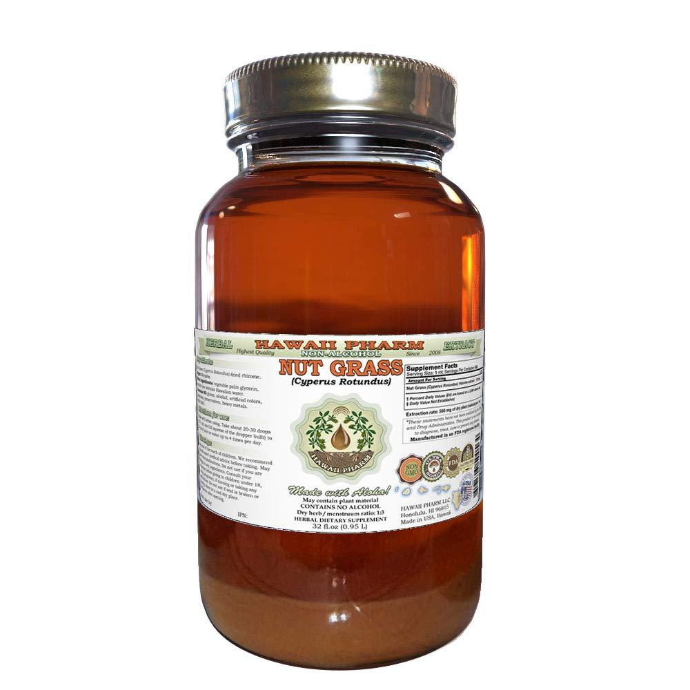 Nut Grass, Xiang Fu (Cyperus Rotundus) Tincture, Dried Rhizome Liquid Extract, Nut Grass, Glycerite Herbal Supplement 32 oz