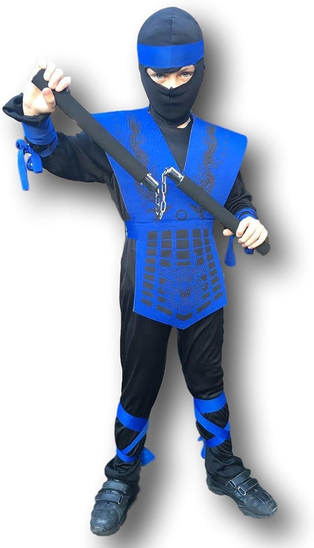 Rubber Johnnies Kids Shadow Ninja Costume, Mortal Zero Combat, Dragon, Costume, GI, 3 Sizes