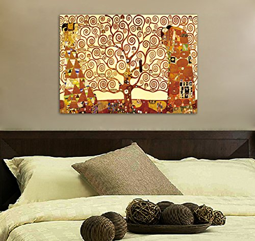 Framed Tree Of Life By Gustav Klimt Canvas Art Picture