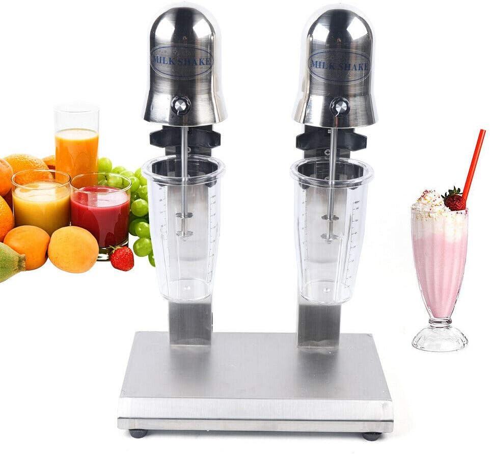 2-Head Household Electric Milkshake Maker Drink Mixer Milk Shake Machine Smoothie Frappe Blender Commercial Ice Cream Maker 560W