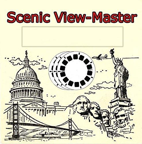Mount Vernon Classic ViewMaster - 1950s Views Virginia, Washington, D.C. - 3 Classic Vintage 3D Reels