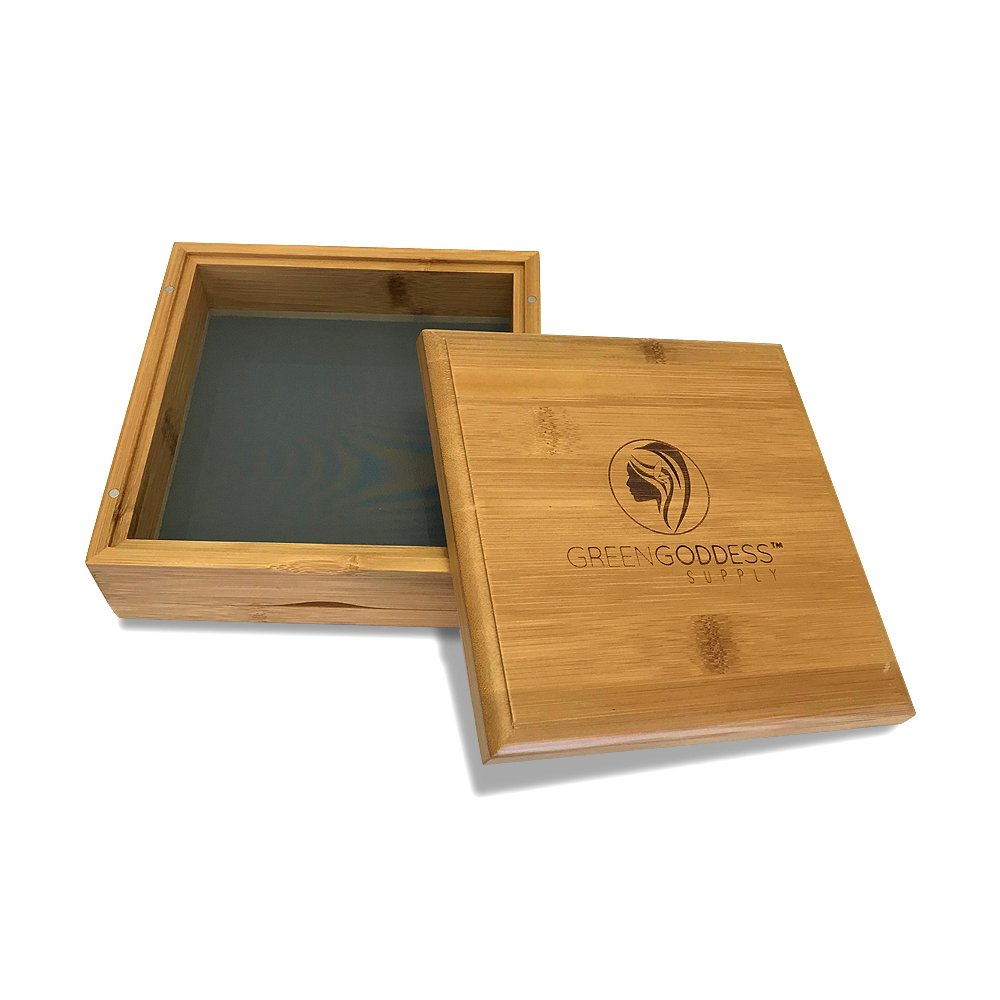 Large Bamboo Pollen Sifter/Shaker Box w/ 100 Micron Screen