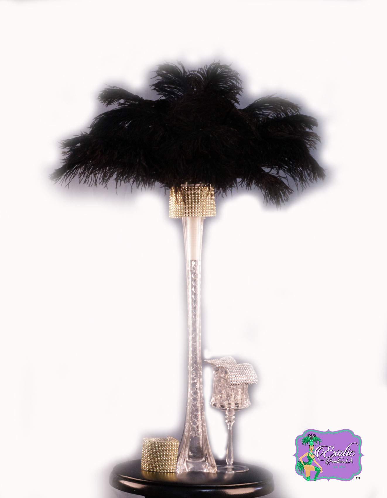 Special Sale 100 Pcs. BLACK OSTRICH Feathers Wholesale Bulk 13/18'' long DELUXE FEATHERS by Exotic Feathers LA est. 1973 (Image #3)