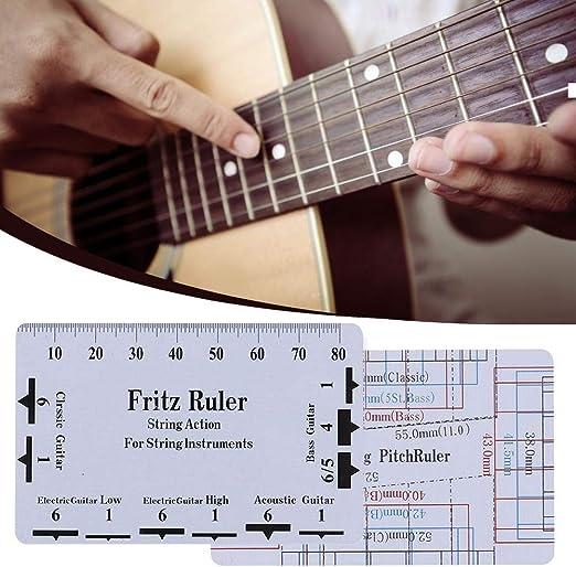 Regla de acción de cuerda Herramienta de calibrador Regla de guitarra para mandolina Banjo Bajo eléctrico Guitarra acústica para instrumentos de cuerda: Amazon.es: Bricolaje y herramientas