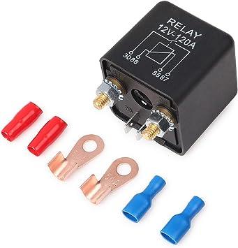 Ehdis Relais Batterie Trennrelais 12v 120a 4 Pin Auto Relay Black Box Batterie Für Automobile Heavy Vehicle Lkw Bagger Van Boot 2 Pin Abdruck 2 Klemme 1 Satz Auto