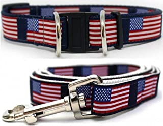 product image for Diva-Dog 'Stars & Stripes' Dog Collar with Safety Buckle