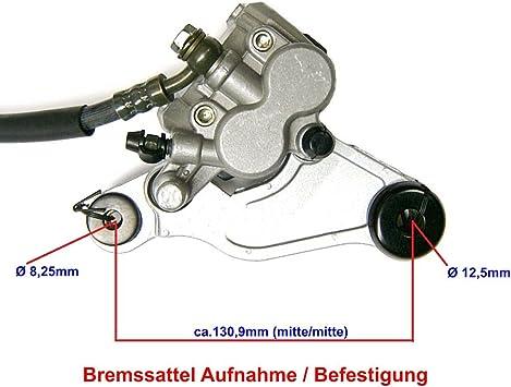 Bremsanlage Bremse Vorn Komplett Z B Passend Für Benzhou Yiying Yy50qt 21 Firenze 50 Znen Retro Cruiser Zn50qt E Und Baugleiche Roller 50 125ccm Gy6 Auto
