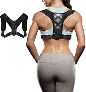 Posture Corrector for Men and Women Upgraded Upper Back Brace for Clavicle Support Adjustable Back Straightener and Providing Pain Relief from Neck, Back, Shoulder(Universal)