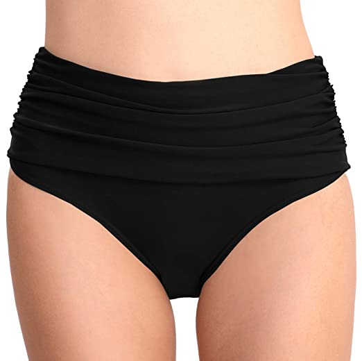 8b20683797 T1FE 1SFE High Waisted Bikini Bottoms for Women Swim Bottom Tummy Control  Swimsuit Bottoms