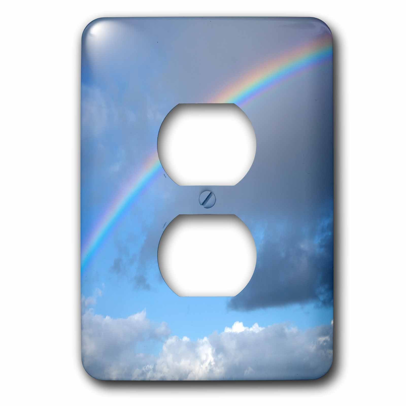 3dRose Danita Delimont - Rainbows - USA, California. Rainbow and clouds. - Light Switch Covers - 2 plug outlet cover (lsp_258840_6)